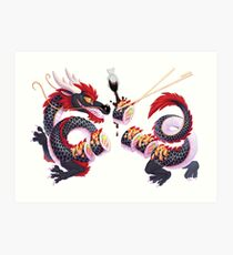 Sushi Dragon Art Print