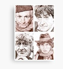 Hartnell/Troughton/Pertwee/Baker Canvas Print