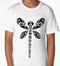 Tribal Dragonfly Tattoo Long T-Shirt