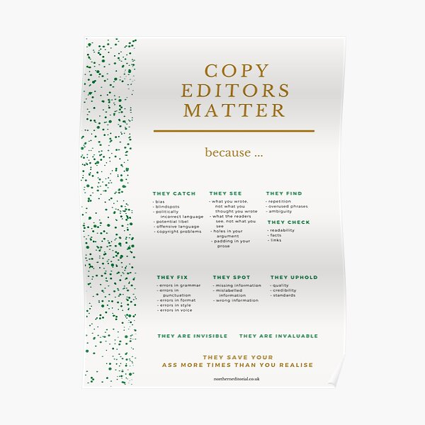 Why Copy Editors Matter Poster