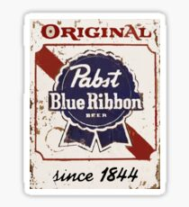 Pabst Blue Ribbon Beer PBR Distressed Logo Sticker