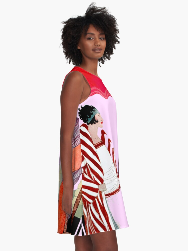 Alternative Ansicht von Vogue Vintage 1922 Magazin Werbung Print A-Linien Kleid