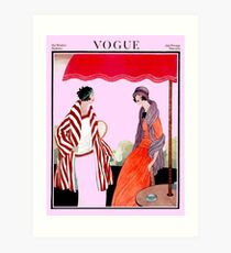 Vogue Vintage 1922 Magazine Advertising Print Art Print