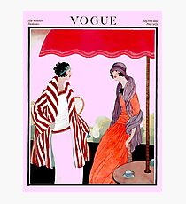 Vogue Vintage 1922 Magazine Advertising Print Photographic Print