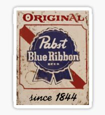 Pabst Blue Ribbon Distressed Logo Sticker