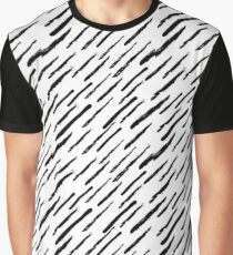 Painted Diagonal Pattern from Brush Strokes Graphic T-Shirt