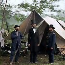 Battle of Antietam, Md. Allan Pinkerton, President Lincoln, and Maj. Gen. John A. McClernand; 1862. by Marina Amaral