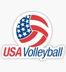 USA Volleyball Sticker