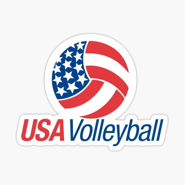 USA Volleyball Sticker
