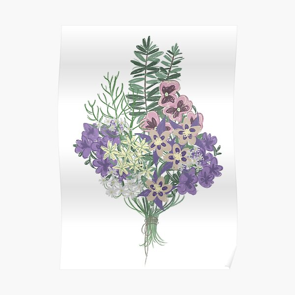 Ophelia's Flowers Poster