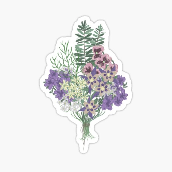 Ophelia's Flowers Sticker