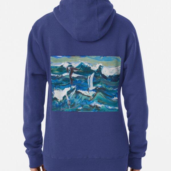 Waves and Terns Pullover Hoodie
