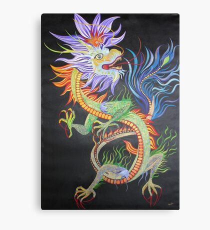 Bright and Vivid Chinese Fire Dragon Canvas Print
