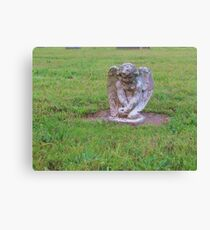 Pouting angel Canvas Print