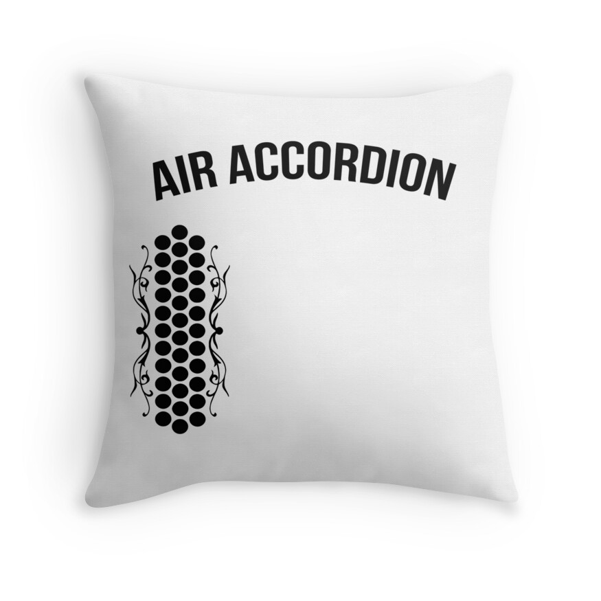 Quot Air Accordion T Shirt Quot Throw Pillows By Arthaschez