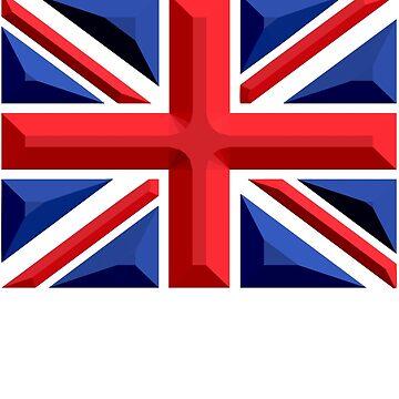British, Union Jack, Chisel Hard, UK, GB, United Kingdom, Flag, Blighty by TOMSREDBUBBLE