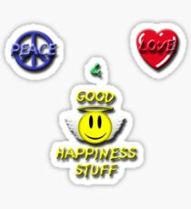 Peace Love Good Happiness Stuff Sticker
