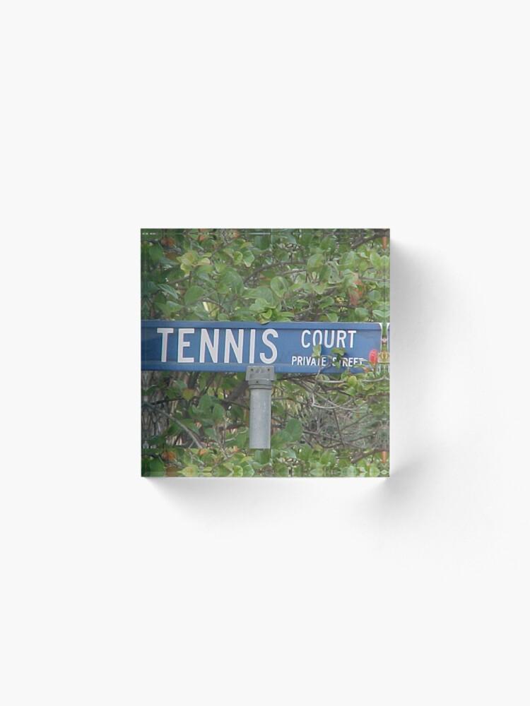 Alternate view of Tennis Court Acrylic Block