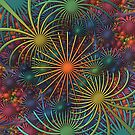 Fireworks - a 3-D Fractal Rendering by Lyle Hatch