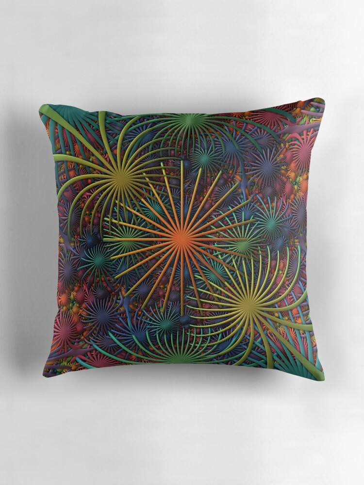 Quot Fireworks A 3 D Fractal Rendering Quot Throw Pillows By