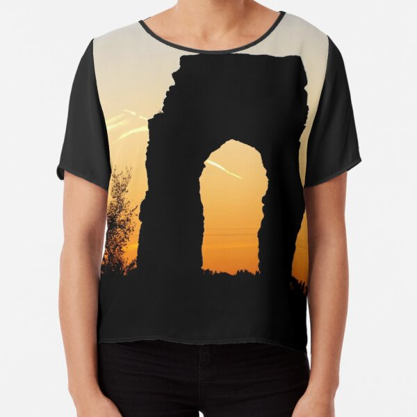 LANDSCAPE COLOR PHOTOGRAPHY ITALIAN ANCIENT RUIN Chiffon Top