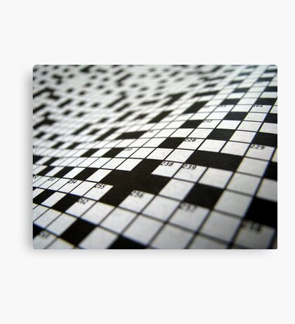 Crossword Canvas Print