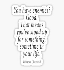 ENEMIES, Sir Winston Churchill Sticker