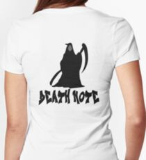 Death note Women's Fitted T-Shirt