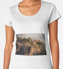 Sunny morning at Meteora Women's Premium T-Shirt
