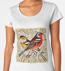 BRIGHT BIRDIES COLLAGE Women's Premium T-Shirt