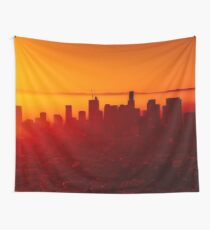 Los Angeles Sunrise  Wall Tapestry