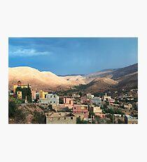 Pastel Hillside Town Photographic Print