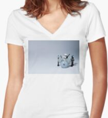 Drumming up a storm Women's Fitted V-Neck T-Shirt