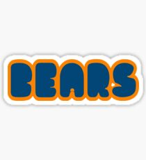Da Bears Font Sticker