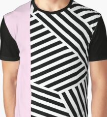 Colorblock Stripes (Pink) Graphic T-Shirt