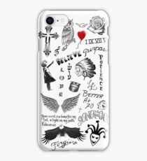 Justin Bieber Tattoos 2017 iPhone Case/Skin