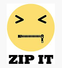 ZIP IT EMOJI Photographic Print