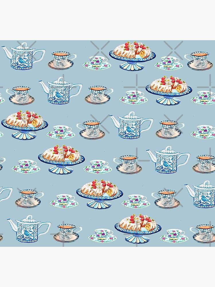 Jane Austen Tea and cake lovers in blue by MagentaRose