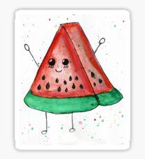 Cute funny watercolor watermelon Sticker