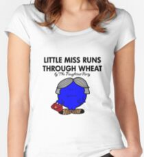 LITTLE MISS RUNS THROUGH WHEAT - THERESA MAY - CONSERVATIVE PARTY Women's Fitted Scoop T-Shirt