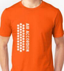 Air Cool Accordion Design. Retro Music Classical Instrument Distressed Graphic Unisex T-Shirt