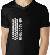 Air Cool Accordion Design. Retro Music Classical Instrument Distressed Graphic Men's V-Neck T-Shirt