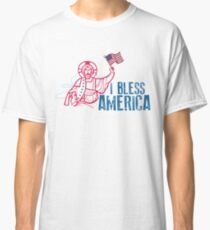 I bless america t-shirt , Funny Jesus Christian Independance Day Tee Shirt , 4th of july shirts Classic T-Shirt