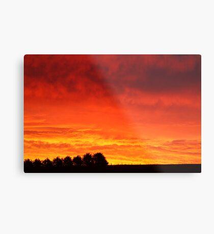 Barrabool Hills Rural Sunset Metal Print
