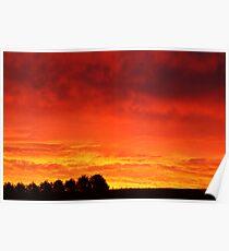 Barrabool Hills Rural Sunset Poster