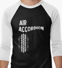 Air Cool Accordion Design. Retro Music Classical Instrument Distressed Graphic Men's Baseball ¾ T-Shirt