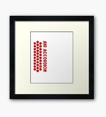 Air Cool Accordion Design. Retro Music Classical Instrument Distressed Graphic Framed Print