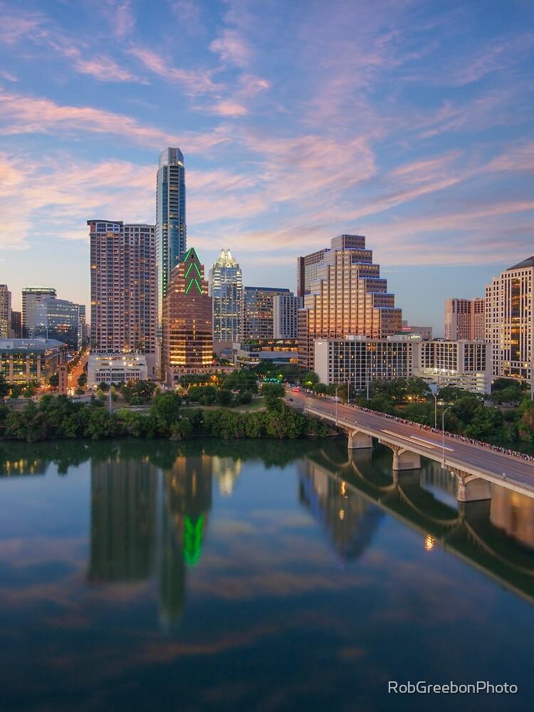 Austin Texas Evening Skyline 73 by RobGreebonPhoto