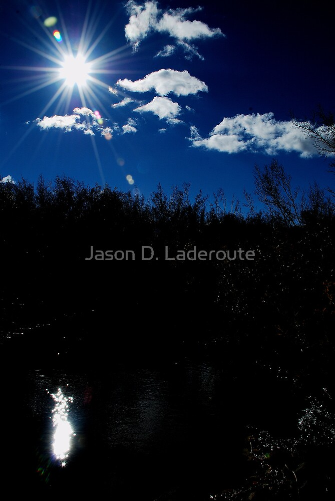 Noon Blue October Sky by Jason D. Laderoute
