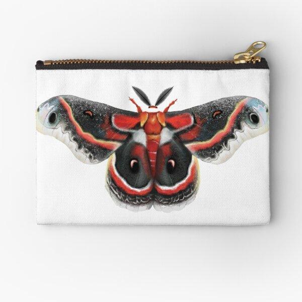Beautiful Cecropia Moth Illustration Zipper Pouch